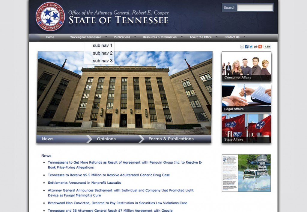 Tennessee Attorney General website